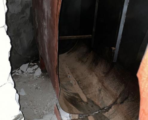 Razrez cisterne za kurilno olje